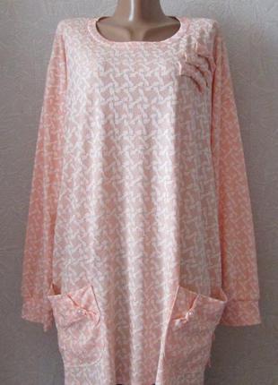 Платье туника шармель, большой размер