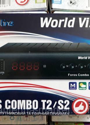 S2+Т2 ТЮНЕР World Vision Foros Combo DVB-T2,DVB,S2,DVB-C,IPTV,12V