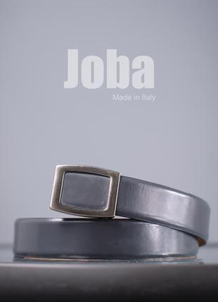 Кожаный ремень joba, италия 108 см мужской пояс пасок чоловічий