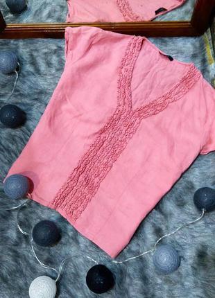 Блуза топ кофточка из 100% льна