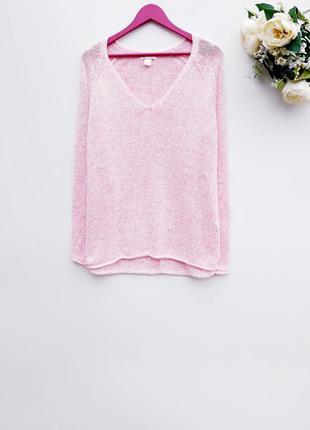 Нежный свитер оверсайз нежно розовый свитер