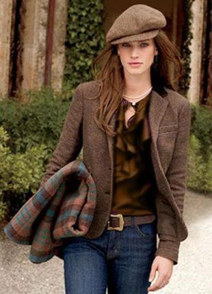 Брендовый коричневый пиджак жакет блейзер с карманами new look...