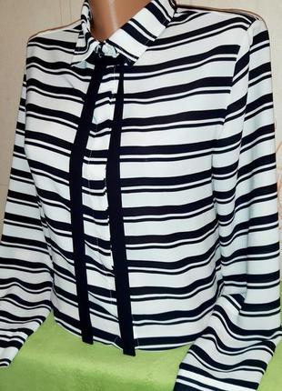 Стильная блуза в черно-белую полоску atmosphere made in vietnam