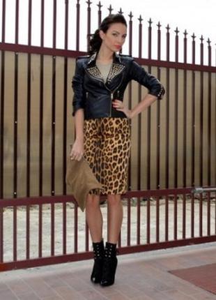 🔥🔥🔥новая, стильная леопардовая юбка kaffe🔥🔥🔥