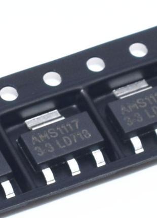100шт Стабилизатор DC напряжения AMS1117 (3.3v)