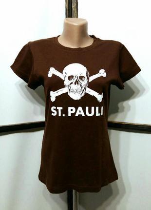 Футболка с принтом черепом бренд st. pauli