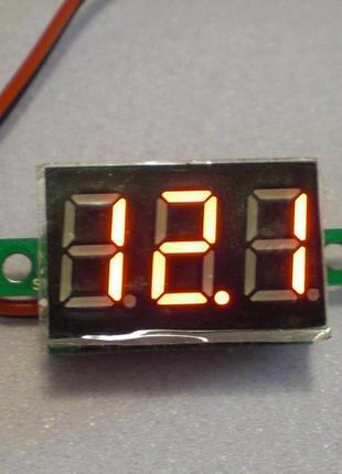 Цифровой вольтметр DC 4.5 - 30 вольт