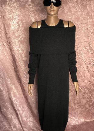 Длинное обтягивающее платье из кашемира brunello cucinelli ита...