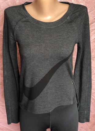 Спортивный женский лонгслив кофта футболка nike w nk dry top ls