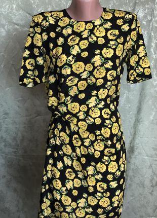 New летнее шелковое шифоновое платье футляр lanvin франция ори...
