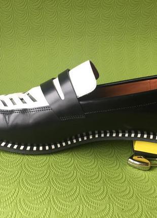 Креативные туфли stephen venezia италия оригинал кожа лак 41 р