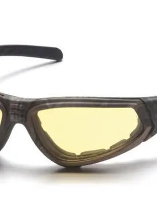 Защитные очки с уплотнителем Pyramex XSG ballistic amber camo ...