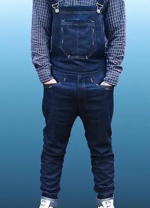 Мужской джинсовый комбинезон L/XL