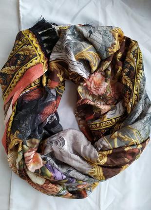 Шарф платок накидка палантин большой натуральный