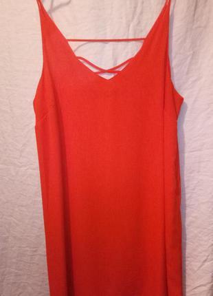 Платье оранжевое сарафан апельсинового цвета