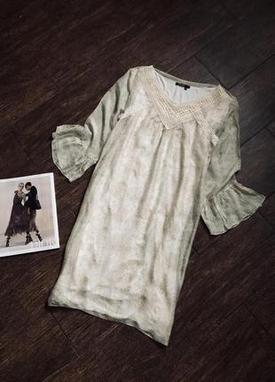 Очень красивое платье с шелком от известного бренда