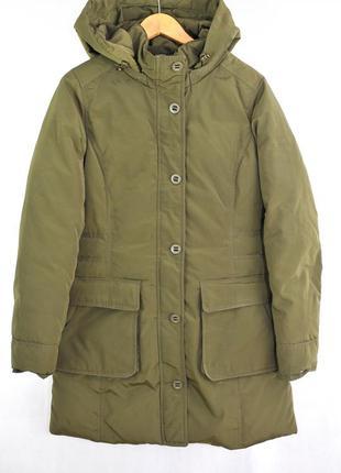 Tommy hilfiger, пальто парка женская пуховая куртка зимняя zar...