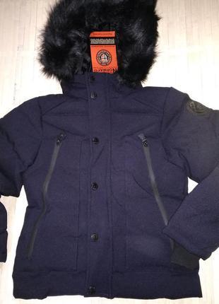 Зимняя куртка парка geographical norway dandy 8 лет синяя