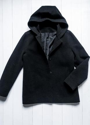 Мужское черное пальто, куртка bhs. весна, осень, демисезон