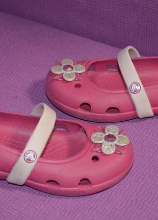 Фирменные балетки crocs размер  c 9 р., 16.5 см