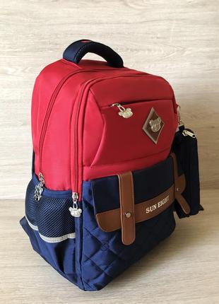 Яркий школьный рюкзак с пеналом для мальчика 7-10 лет, детский...