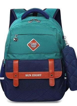 Школьный рюкзак с пеналом на мальчика 7-10 лет, детский портфе...