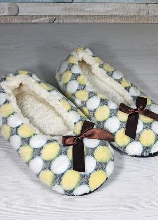 Теплые мягкие женские домашние тапочки следки 37-38 размера, с...
