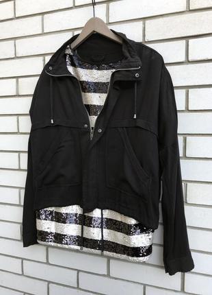 Чёрная куртка,ветровка,бомбер,парка,большой размер