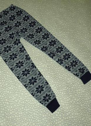Тёплые флисовые штаны 8-9 лет