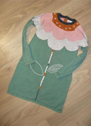 Вязаное платье на 5-6лет