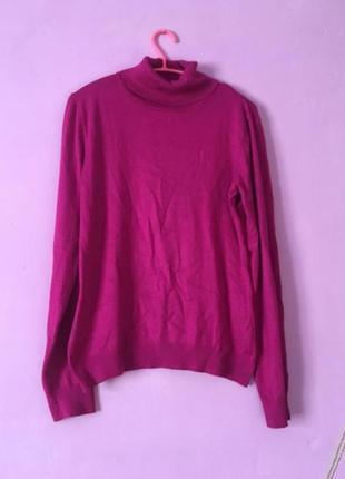 Импортная водолазка  цвет фуксии качественная гольф свитер