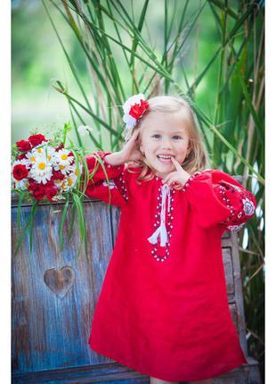 Червона сукня-туніка для дівчинки