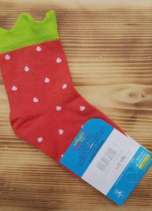 "Носки для девочки ""клубничка"", размер 14 / 1-2 года"