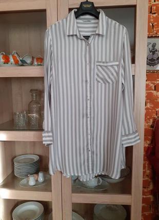 Стильное  качественное вискозное платье рубашка большого размера