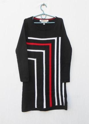 Базовое теплое шерстяное облегающее платье с длинным рукавом 🌿