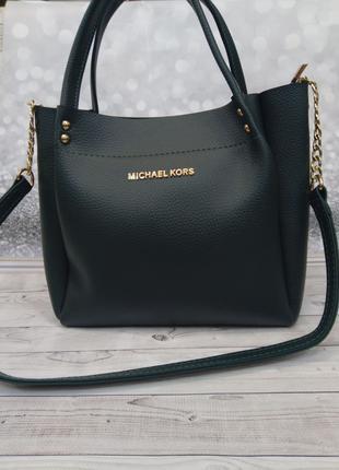 Зеленая женская сумка Майкл Корс