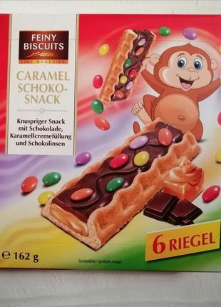 Печенье с карамельно-шоколадной начинкой Feiny Biscuits Carame...