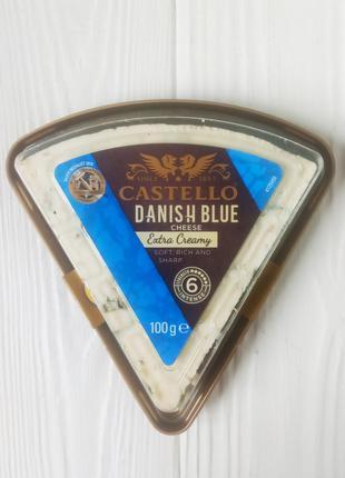 Сыр с голубой плесенью Castello Danish Blue, 100г (Дания)