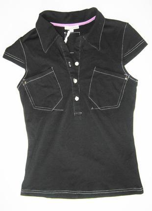 Женская футболка в стиле поло