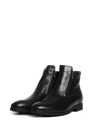 Зимнике кожаные классические мужские ботинки