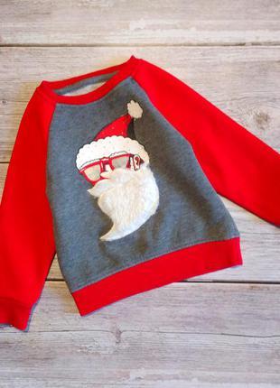 Новогодний тёплый свитшот кофта свитер primark на мальчика 9-1...