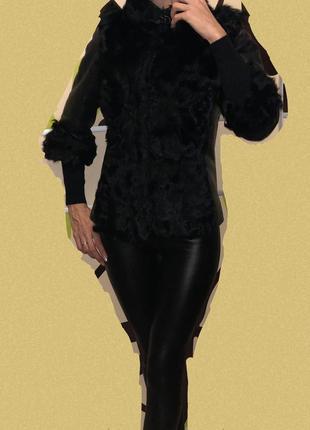 Куртка шубка натуральная кожа мех