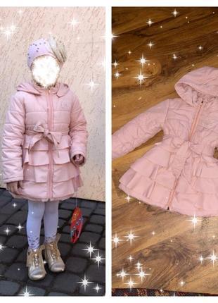 Красивая куртка пальто для девочки
