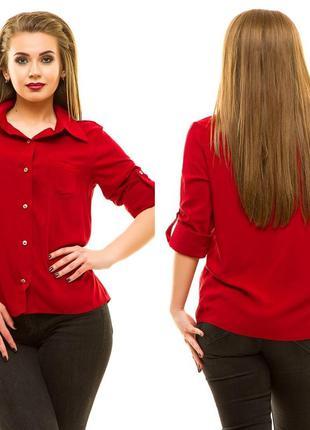 Блуза рубашка штапель с длинным рукавом, можно подвернуть код ...