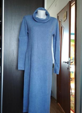 Комфортное платье season ангора голубого цвета