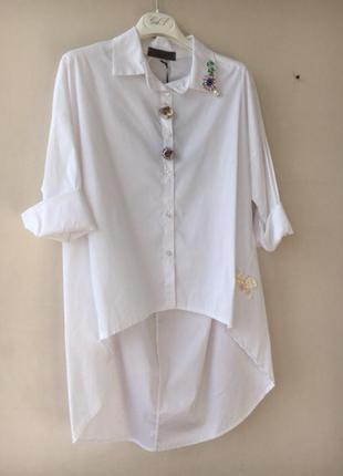 Рубашка блузка италия gil santucci