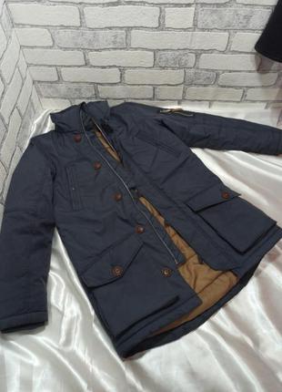 Куртка зимняя на силиконе удлиненная