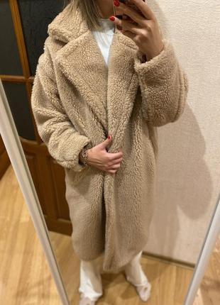 Теплая зимняя шуба пальто на подкладке