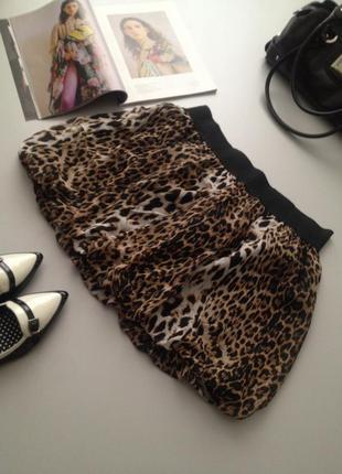 Оригинальная брендовая юбочка мини с принтом.1050