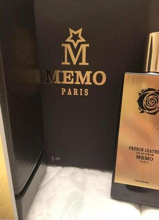 French Leather  Memo_Оригинал Eau de Parfum 5 мл